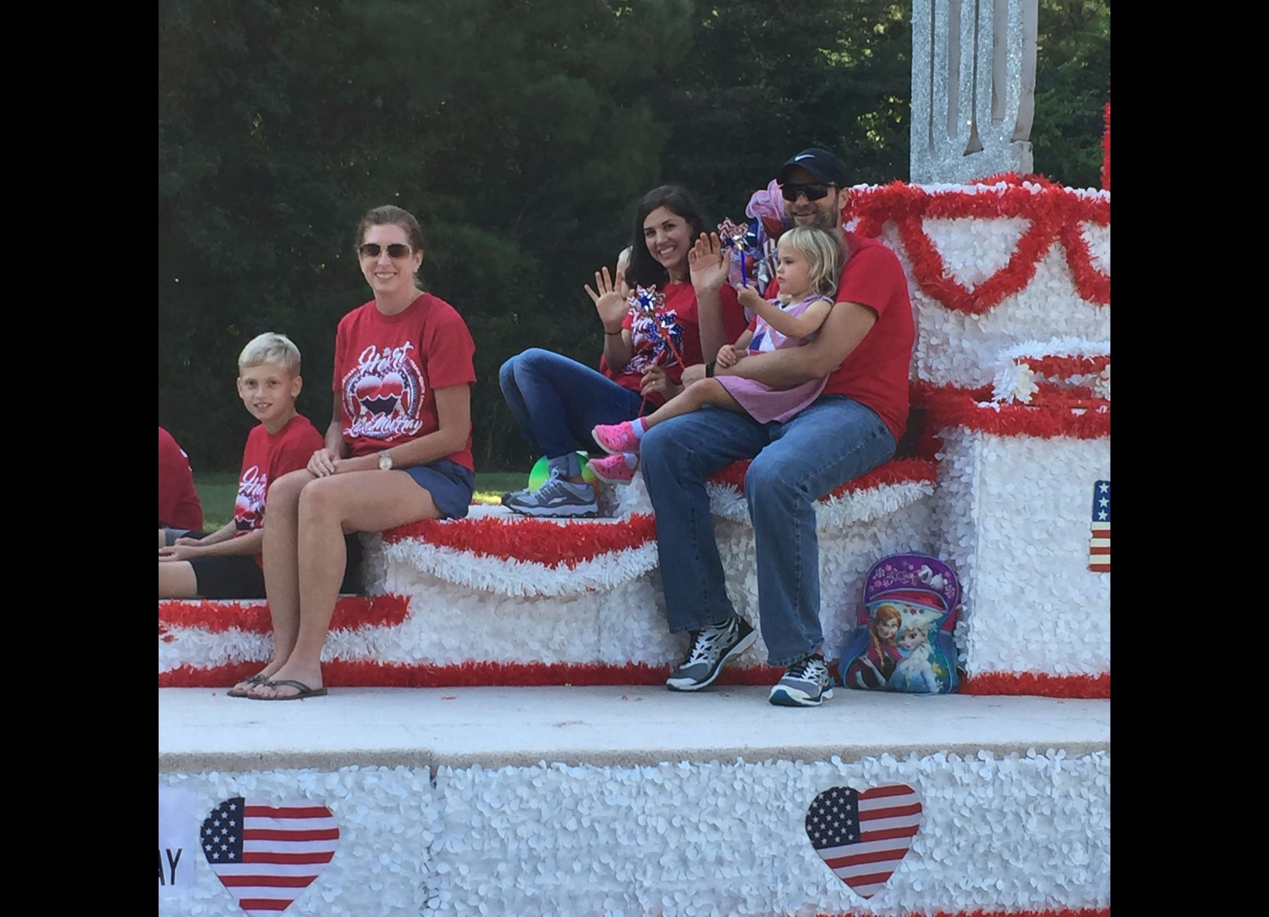 Heart of Lake Murray Float with Town Employees