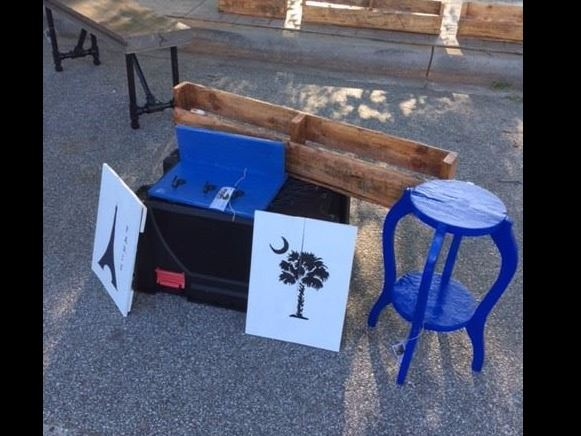 A thru Z Designs with their homemade furniture and decor