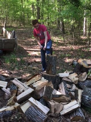 Log splitting ministry