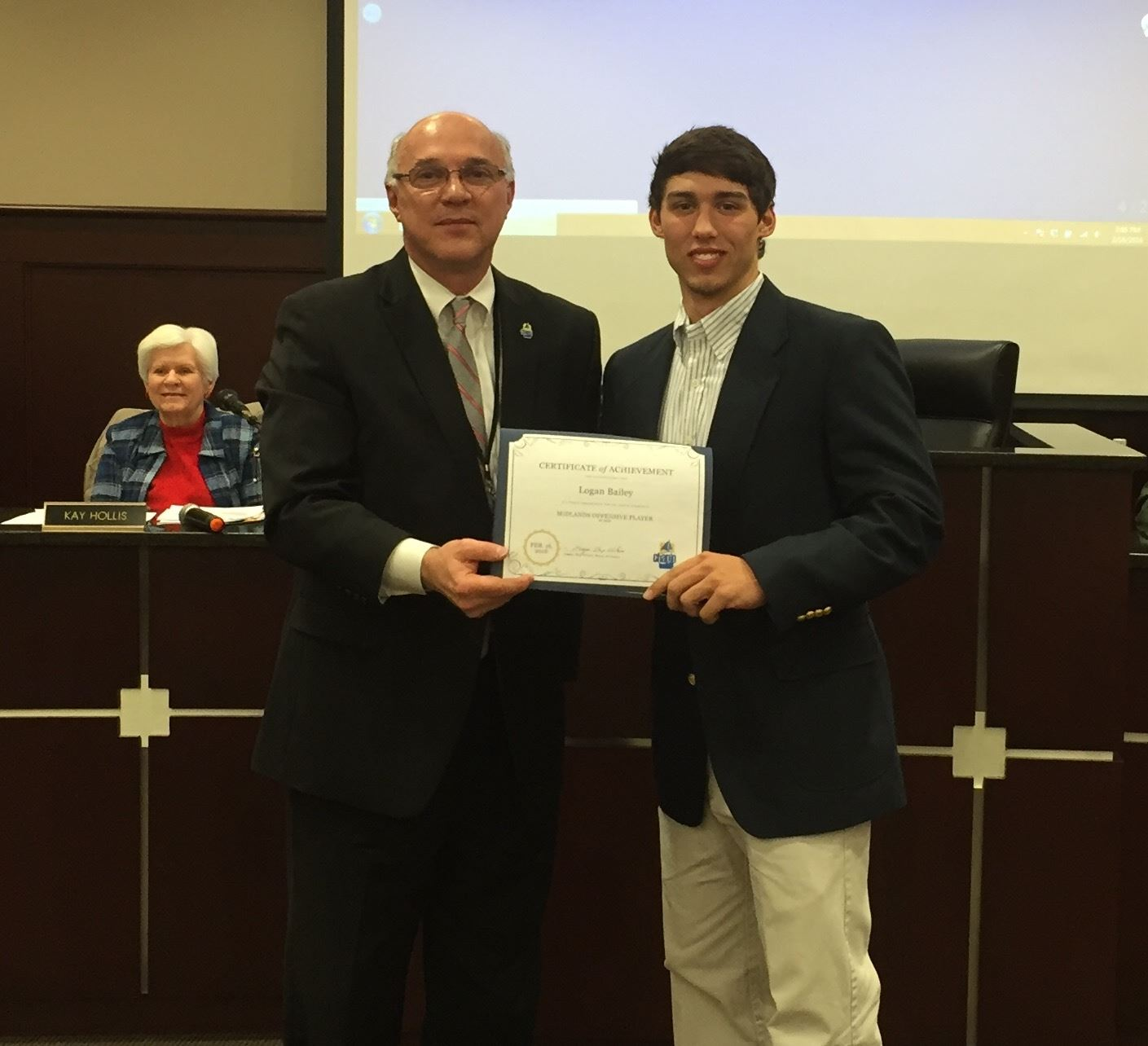 Mayor Wilson with Logan Bailey