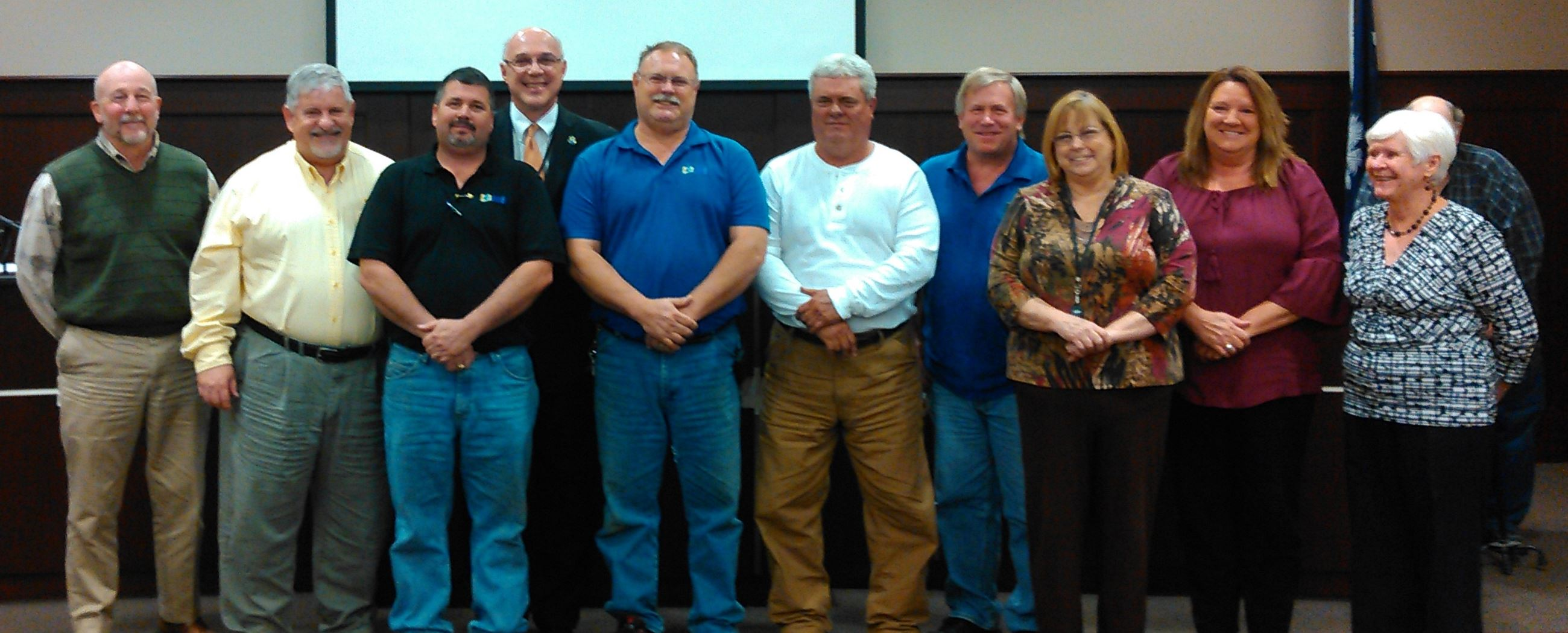 Photo of Chapin Utilities staff members